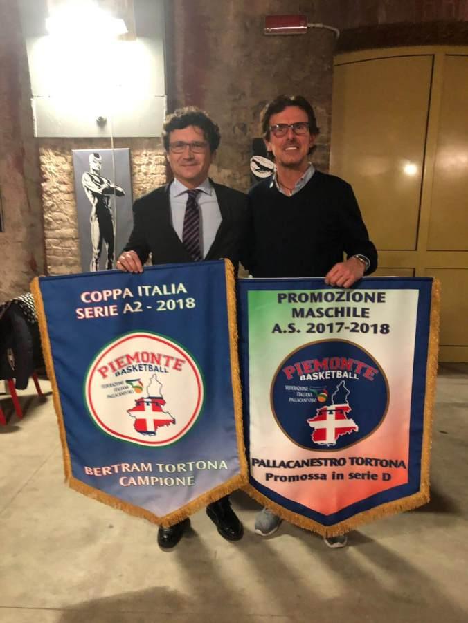 Roberto Tava e Pallacanestro Tortona premiati a Torino