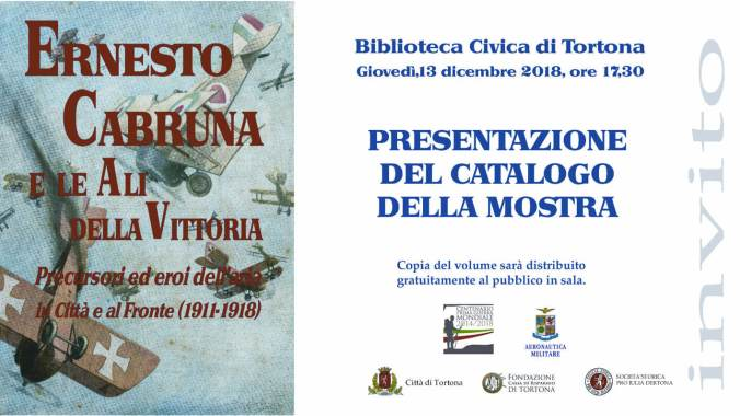 Invito alla presentazione del Catalogo su Ernesto Cabruna