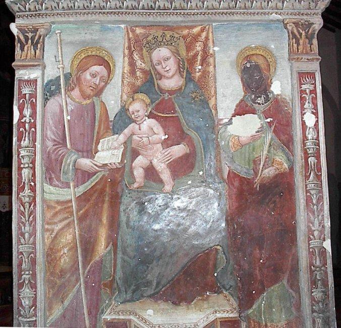 Pieve di San Pietro a Volpedo - dipinto di Boxillio