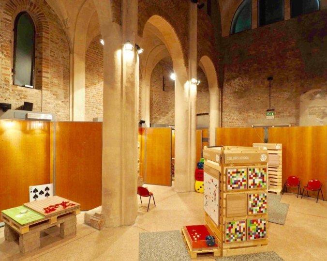 Pavia - Chiesa di Santa Maria Gualtieri durante la mostra