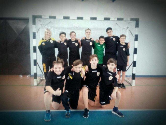 La seconda formazione Under 15 dei Leoni Pallamano Tortona