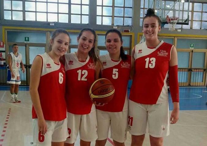 La squadra femminile di Basket del Liceo Peano