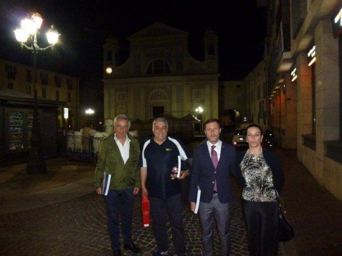 Beppe Conti e Giampaolo Ormezzano alla sala convegni della Fondazione