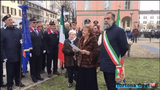 Malì Schmidichen legge il discorso di commemorazione delle vittime del 10 febbraio 2019