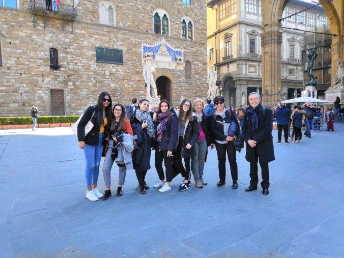 La delegazione dell'Istituto Marconi di Tortona a Palazzo Vecchio