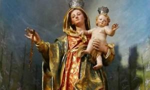È tornata a Garbagna la statua della Beata Vergine del Rosario