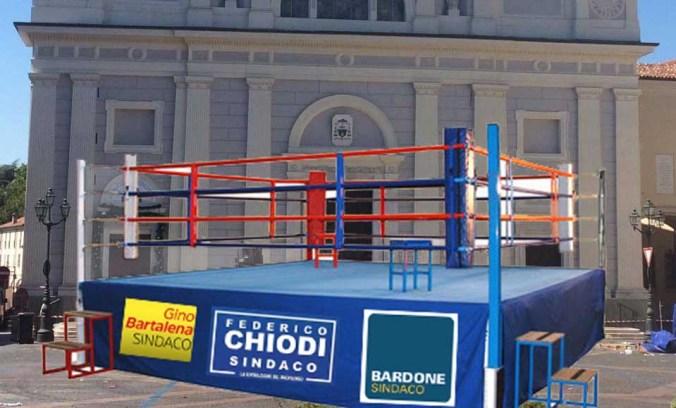 Il box allestito in Piazza Duomo