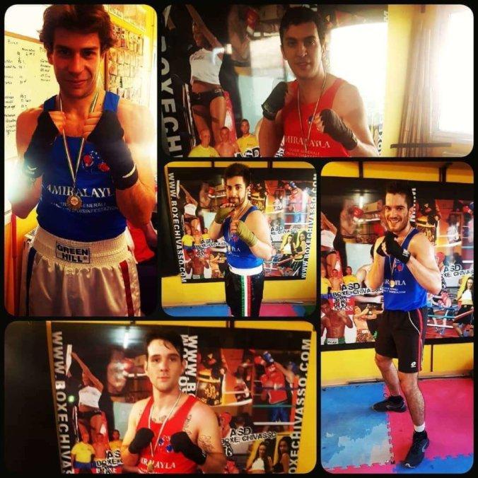 Gli atleti che hanno aperto la stagione del light boxe a Chivasso