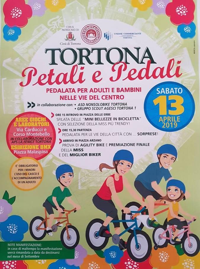 locandina evento ciclistico a tortona sabato 13 aprile 2019