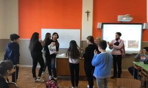I ragazzi delle scienze umane del liceo Peano hanno spiegato l'arte agli alunni del San Giuseppe