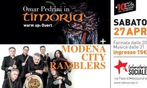 Omar Pedrini e Modena City Ramblers al Laboratorio Sociale di Alessandria
