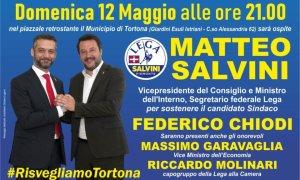 Fedenrico stai sereno, domenica Salvini viene a Tortona