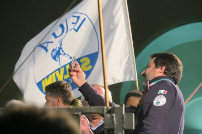 Comizio di Matteo Salvini Lega Tortona