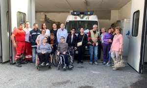 I ragazzi del Minifal Tortona hanno visitato la sede della Croce Rossa