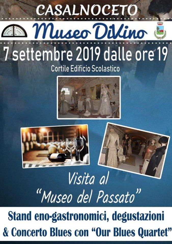 La locandina dell'edizione 2019 della manifestazione Museo DiVino a Casalnoceto