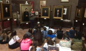 I ragazzi delle scuole di Volpedo in visita alla Biennale Pellizziana