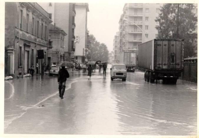 Foto scattata nel quartiere di San Bernardino a Tortona. Archivio Armando Bergaglio