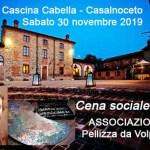È stata rinviata a questo sabato la Cena sociale dell'associazione Pellizza da Volpedo