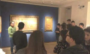 """Dentro la Pinacoteca """"il Divisionismo"""" con gli studenti del Marconi"""