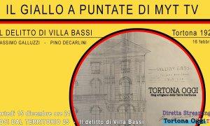 Il delitto di Villa Bassi a Tortona diventa un giallo a puntate sui social e anche una puntata di VOCI DAL TERRITORIO