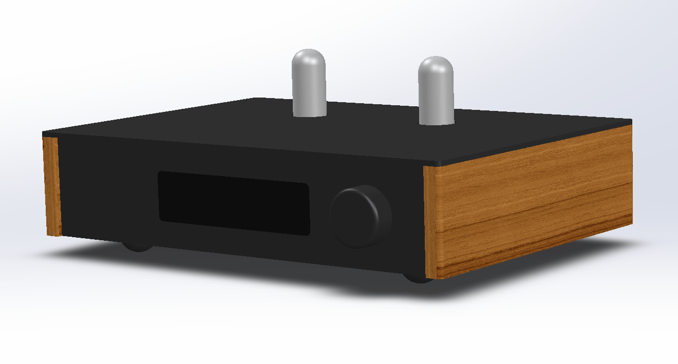 LDR3000x.V3 preamp front view#2 (3D CAD)