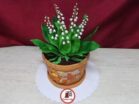 tort lacramioare ghiveci 4_Lily of the valley pot cake