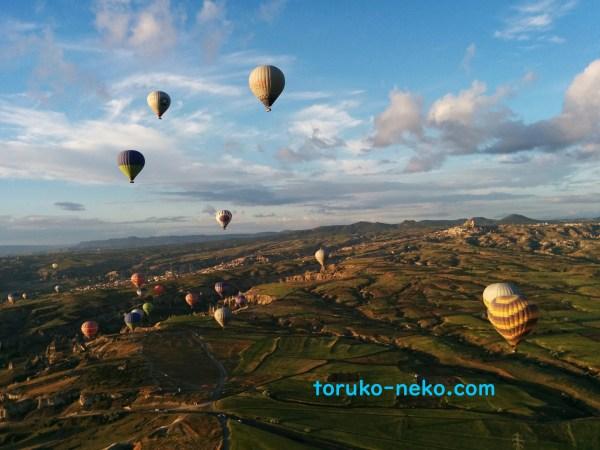 カッパドキアの気球に乗ってみた、気球からの景色