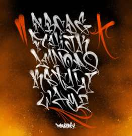 Graffiti flare Fat Cap Brushes Procreate Torus 1