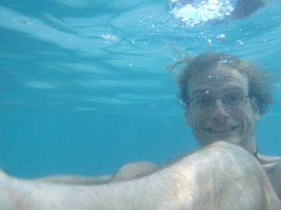 Brad underwater.