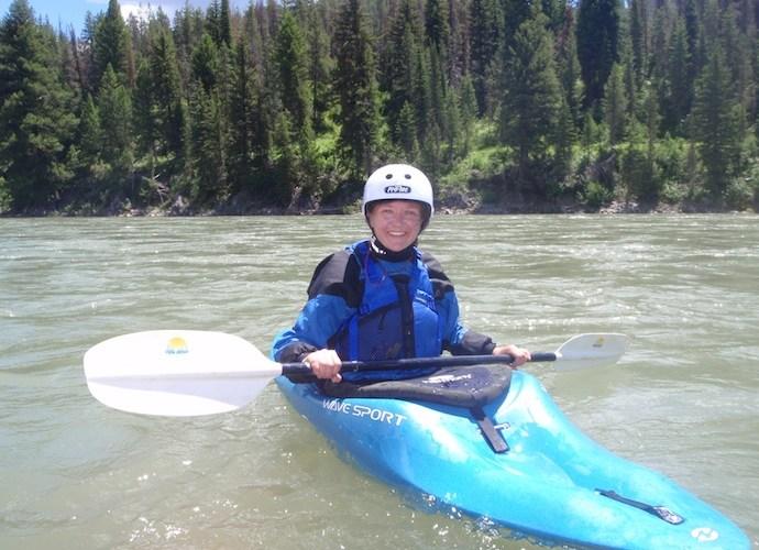 Kari Moe on the water