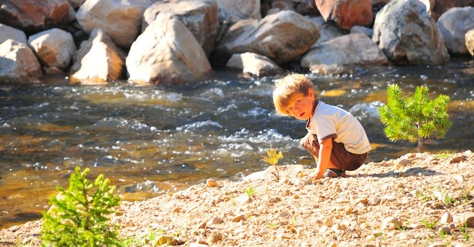 Tory Hoffman by the river