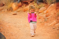 Tegan finds some rocks. In the desert. Imagine that.