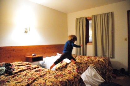 Jumping on the bed in hotel rooms is encouraged.