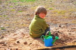 Tory makes a mud mess.
