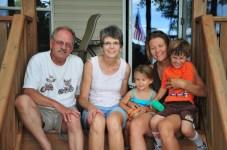 Family shot at the Grandparents Hoffman