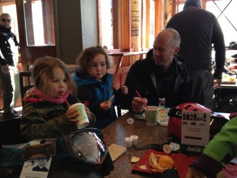 Josh and Serisa join us for hot cocoa at Red Pine Lodge