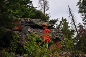 Tory, up ahead again, on a creek hike.