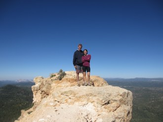 Brad and Babbie on an outcropping.