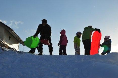 Sledding crew