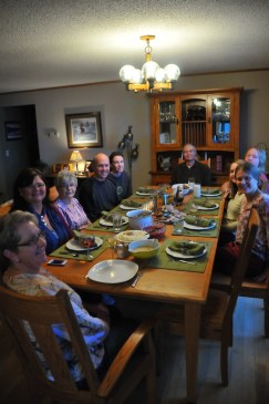 Thanksgiving Day dinner at the Moes!