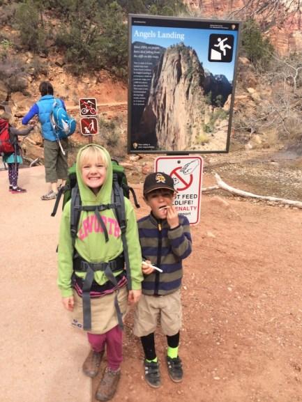 Tai and Tory prep for the hike