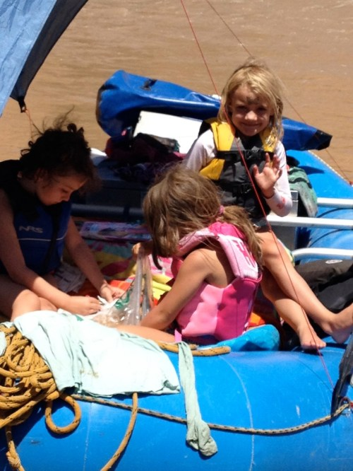 Kids, snacks, and an Aspen wave