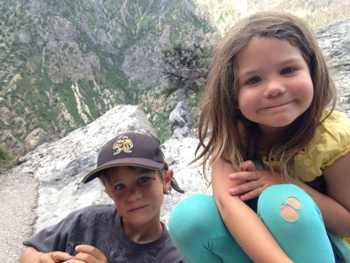 After the cave. My awesome kids.