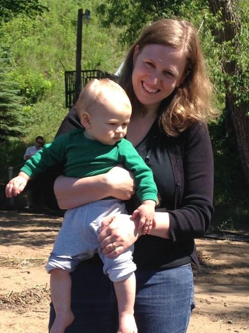 Freddie and mama Sarah