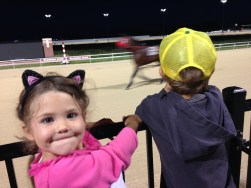 Tory and Tegan get close to the horses