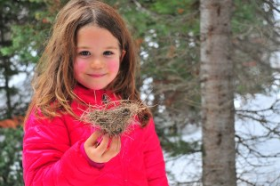 Tegan found a birds nest!