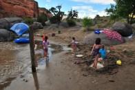 Kids on the beach at Black Rocks 7