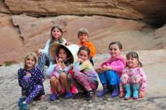 Kid crew on the rocks.