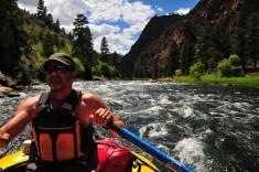 Bryan navigates the rough water