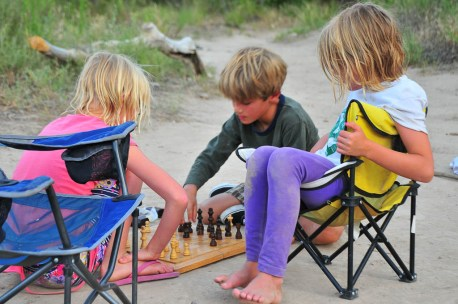 Chess match at Mee Corner